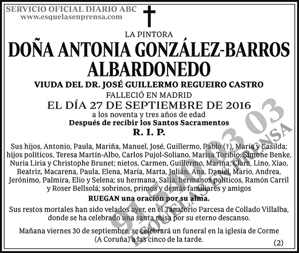 Antonia González-Barros Albardonedo